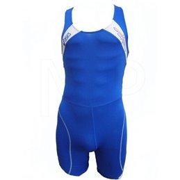 Duo tenue lutte Enfant Adidas bleu cyan et rouge