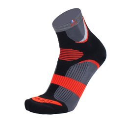 La Chaussette de France Running modele Sierra reflect noir/orange