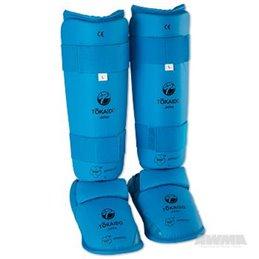 Protege tibias et pieds amovible gel Tokaido WKF bleu