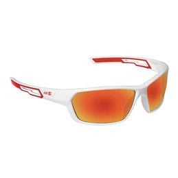 Lunette AZR Modele Rush 3790 Monture blanche vernie Écran PC / multicouche rouge Categorie 3