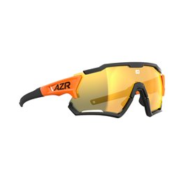 Lunette AZR Modele Kromic Track4 RX 3820 Monture orange verni Ecran PC / incolore photochromique Cat 0 a Cat 3