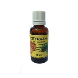 Huile esentielle Bio Desodorisant Citron Verveine Menthe Pamplemousse 30 ml