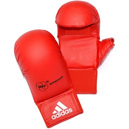 Mitaines karate Adidas WKF avec pouce Rouge
