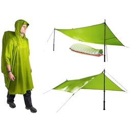 Poncho tarp Nylon Sea to Summit Bleu