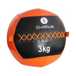 Wallball à projeter au sol Sveltus poids au choix noir