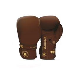 Gants boxe Victory Heritage mi-cuir Marron Montana