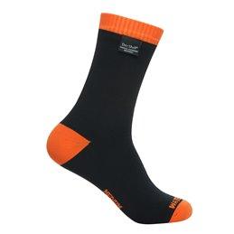 Chaussettes impermeables respirantes DexShell Thermlite noir/orange