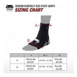 Protege chevilles avec Grip dessous de pieds gamme Kontact Venum noire
