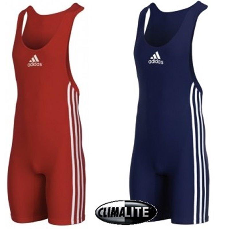 Duo Tenue Lutte Adulte Adidas Bleu et Rouge