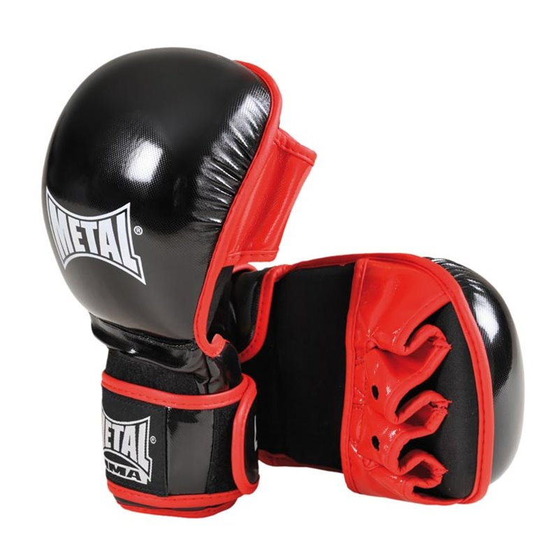 Gants combat libre Metal Boxe entrainement cuir MB577