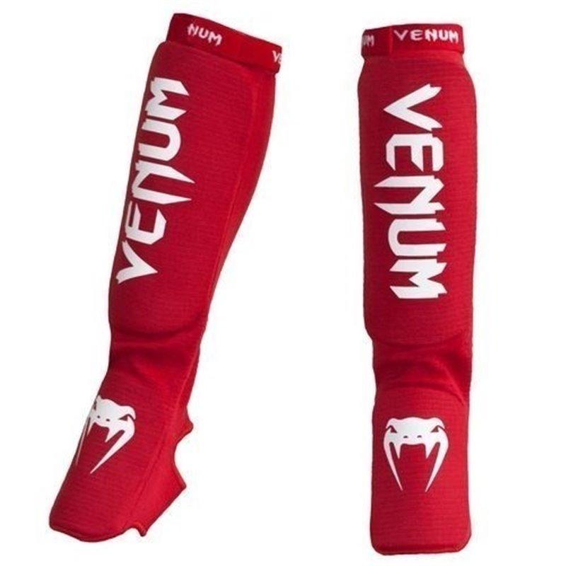 Protege tibias et pieds mousse Venum Kontact rouge taille unique