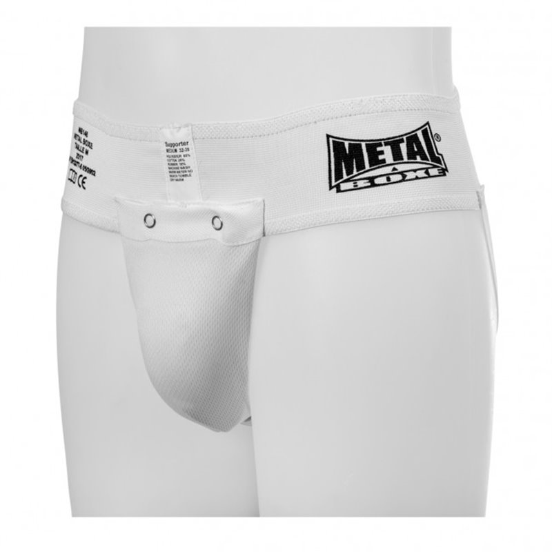 Slip Coquille Metal boxe blanche