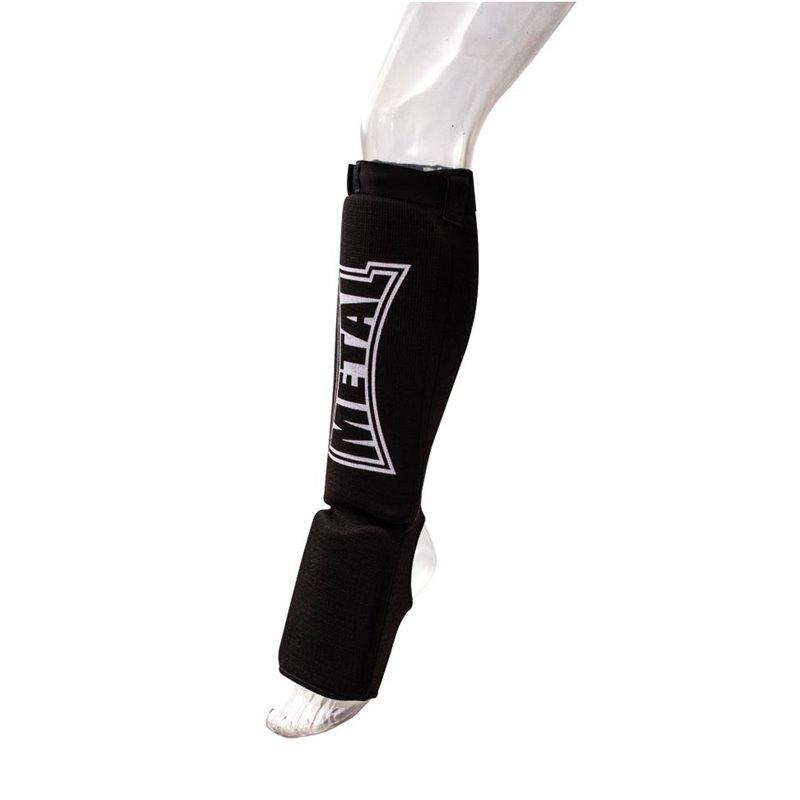 Proteges tibias avec pieds Mousse Metal boxe couleurs / tailles au choix