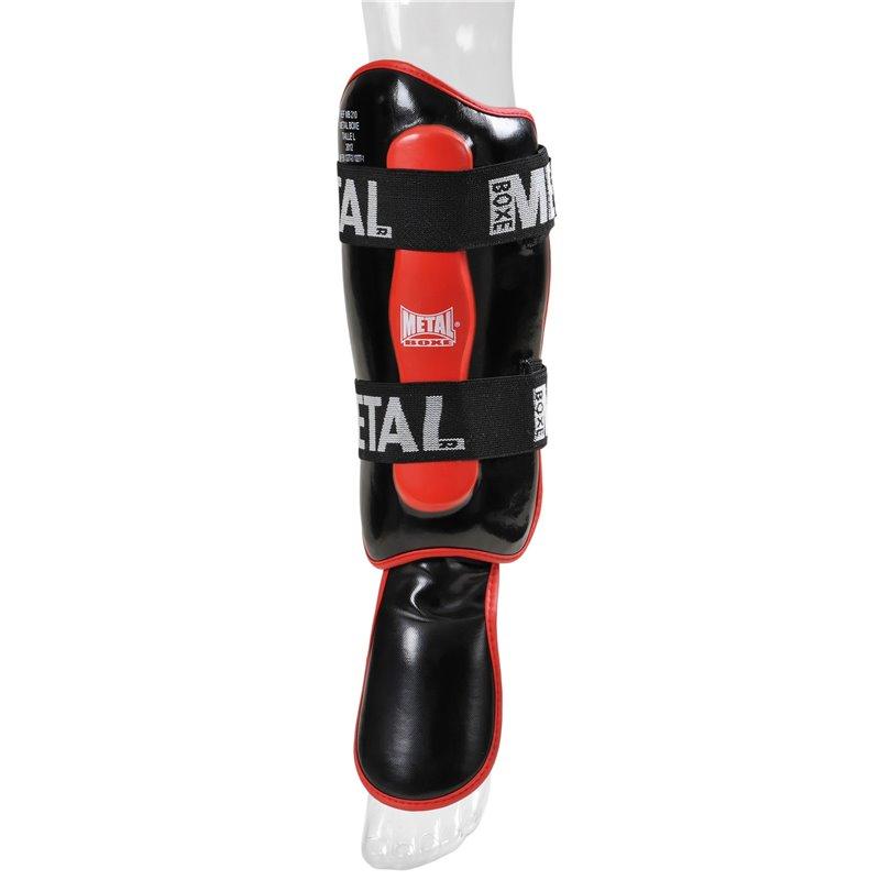 Proteges tibias avec pieds detachables Metal Boxe MB210