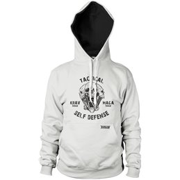 Sweat capuche Battler Krav maga tactical blanc