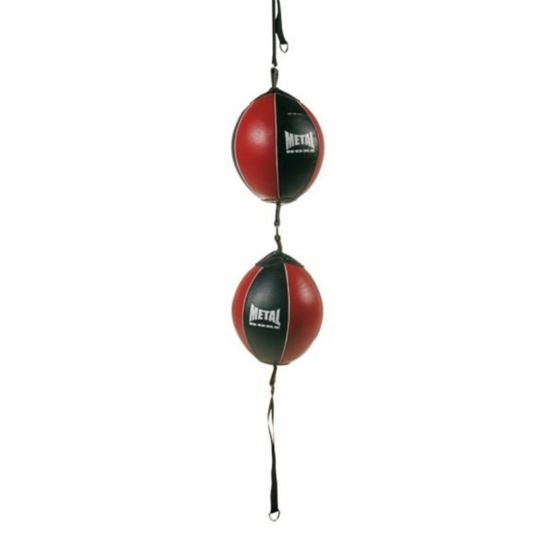 Ballon double american Metal boxe noir/rouge