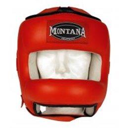 Casque de boxe Montana MPF5000 rouge taille unique