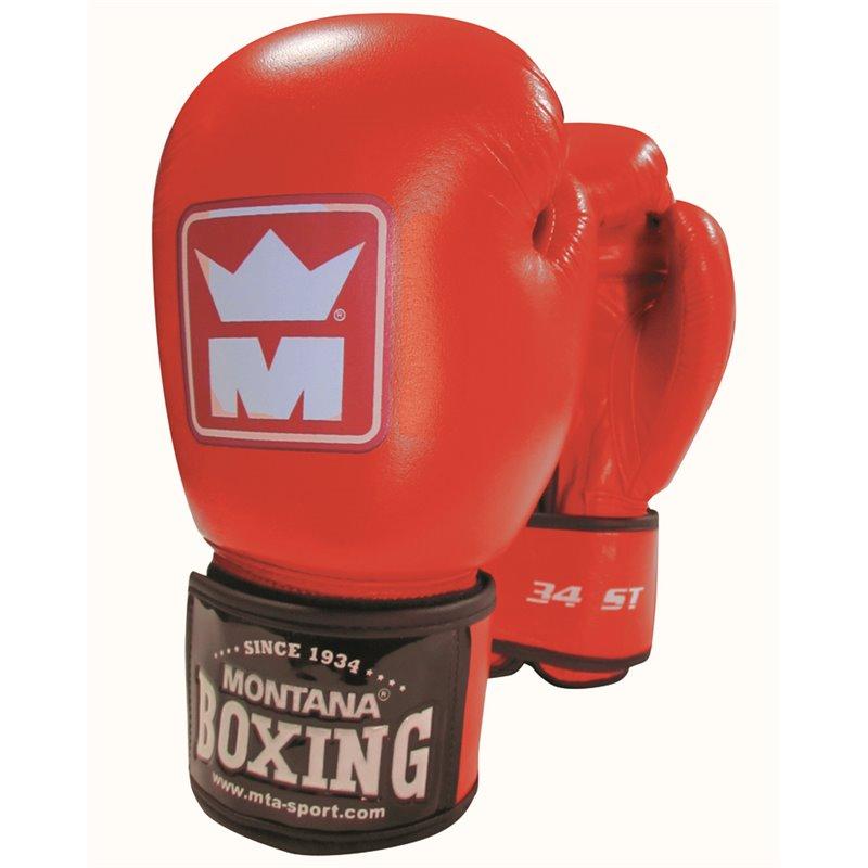 Gants de boxe Montana 34 ST Competition rouge