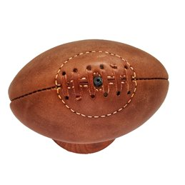 Mini Ballon RUGBY Vintage  collection cuir camel
