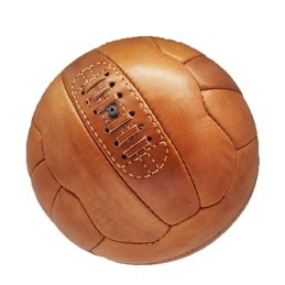 Ballon Football Vintage collection cuir Camel