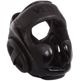 Casque Venum Elite cuir noir taille unique