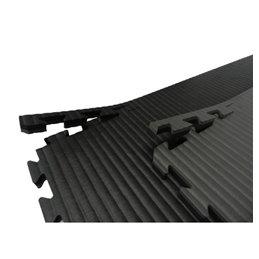 Tatami / Tapis emboitable puzzle 4 cm epaisseur Noir et gris lot de 5 dalles de 1m²
