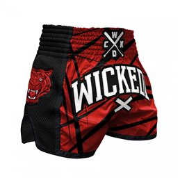 Short Muay-thai WickedOne Claws rouge