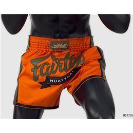 Short muay thai Fairtex Orange marquage vert