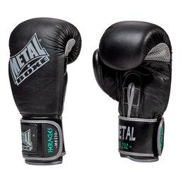 Gants de mb232 Cuir Metal Boxe noir