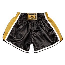Shorts thai Metal Boxe Noir/Or TC70E