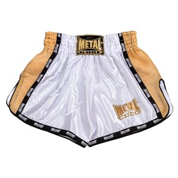 Shorts thai Metal Boxe Blanc/OR TC70F
