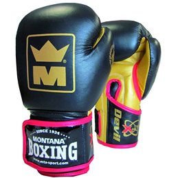 Gants boxe Devil Montana cuir pieds poings Noir