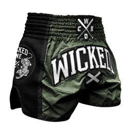 Short Muay-thai WickedOne Cross Kaki