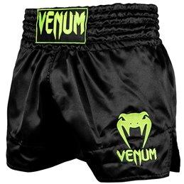 Short de Muay Thai Venum Classic Noir/jaune fluo