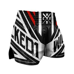 Short Muay-thai et Kick WickedOne District noir/blanc