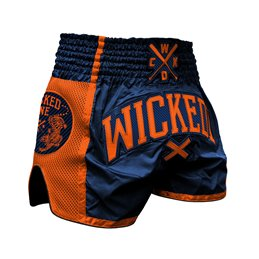 Short Muay-thai et Kick WickedOne Cross Orange