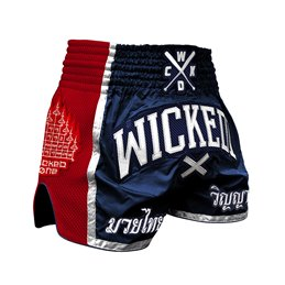 Short Muay-thai et Kick WickedOne Flag marine