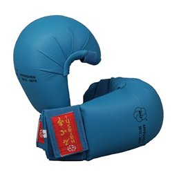 Mitaines karate Hayashi WKF sans pouce Bleu