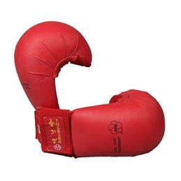 Mitaines karate Hayashi WKF sans pouce Rouge