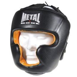 Casque integral prestige Metal Boxe Cuir