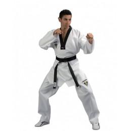 Dobok col blanc Kwon Starfighter WTF col noir
