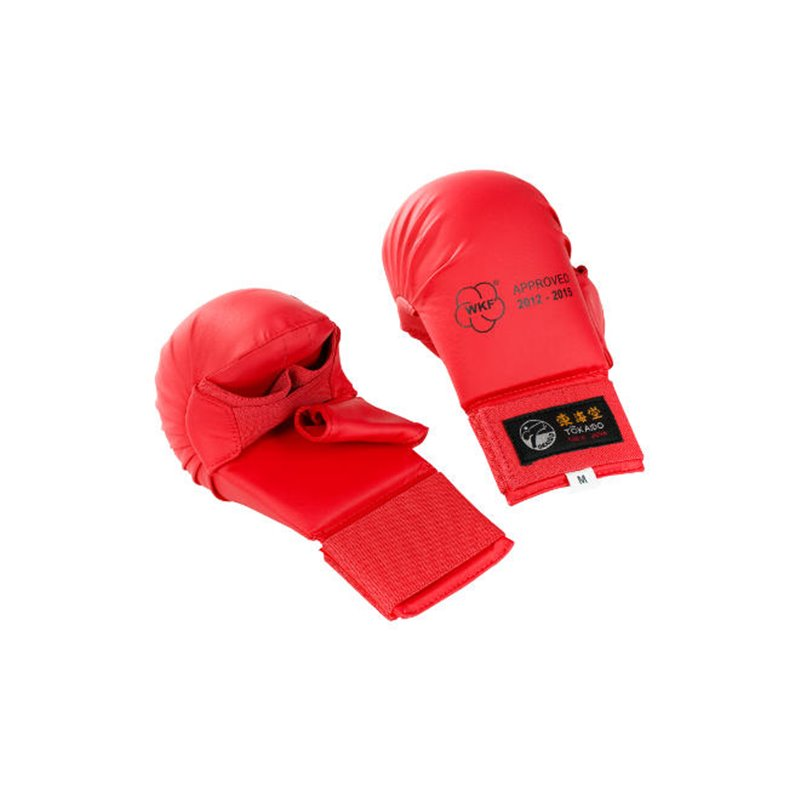 Mitaines karate Tokaido WKF avec pouce Rouge