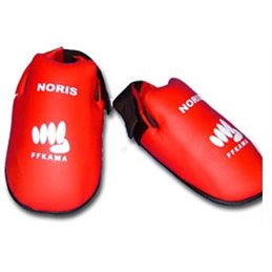 Protection pieds homologué FF Karate Noris rouge