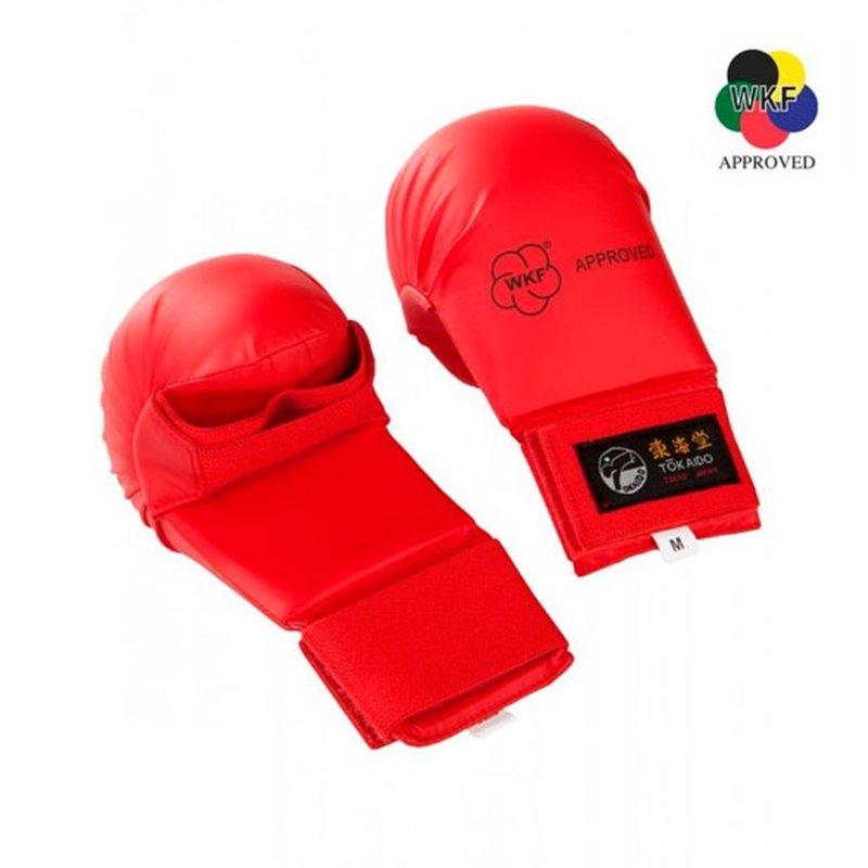 Mitaines karate Tokaido WKF sans pouce Rouge