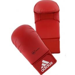 Mitaines karate Adidas WKF sans pouce Rouge